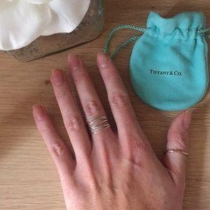a0ab14a73 Tiffany & Co. Jewelry | Tiffany Co Elsa Peretti Wave Fiverow Ring ...